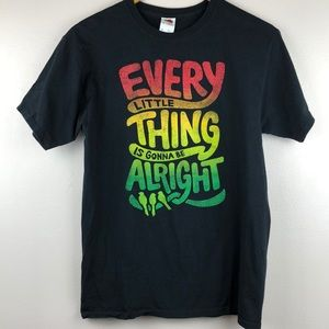 Bob Marley graphic shirt Every Little Thing Song